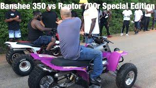 Banshee 350 vs Raptor 700r Special Edition!!