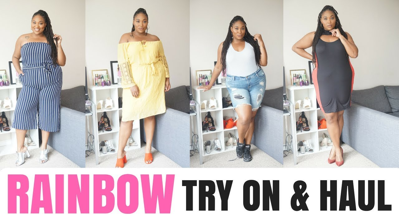 bc9f8a61b4 RAINBOW PLUS SIZE Try on   Haul