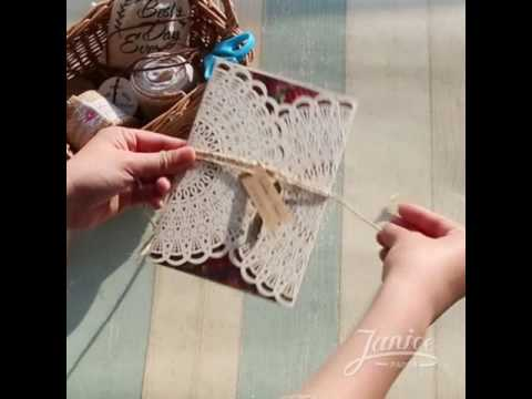 DIY videos~ How to coordinate laser cut invitations WPL0091?