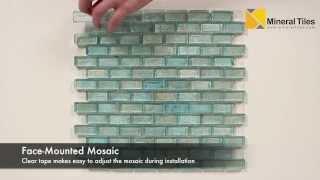 Iridescent Pool Glass Tile Aqua 1x2 - 120KELUTO21221