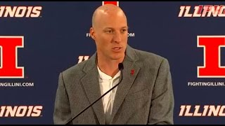 Illinois Basketball Coach John Groce Media Day Press Conference 10/9/14