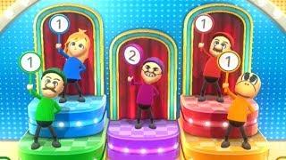 Wii Party U - Mario VS Luigi VS Peach VS Yoshi (Minigames)