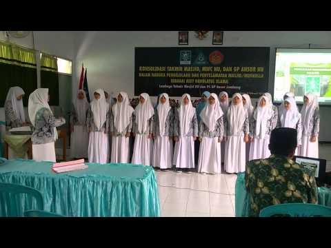 Ya Lal Wathon : tim paduan suara kelas Unggulan MAN Tambakberas : ciptaan K.H. Abd. Wahab Hasbulloh