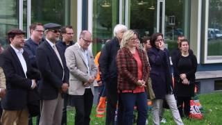Muslime Pflanzen einen Friedensbaum in Solothurn mit Stadtpräsident Kurt Fluri