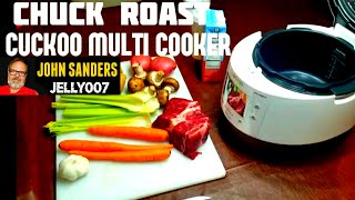 Chuck Pot Roast HOW TO in CUCKOO MULTI PRESSURE COOKER CMC-501S electric multi rice cooker REVIEW