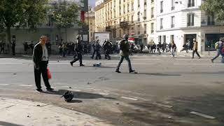 Manifestation contre le travail à Paris le 12 septembre 2017 vidéo 6