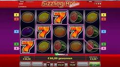 Sizzling Hot  4 Siebener auf 50 Cent  Novoline online Echtgeld