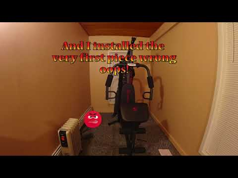 Marcy Home gym build time lapse Sony Fdr X3000
