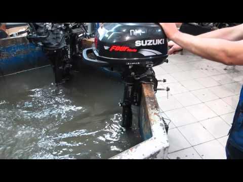 лодочный мотор suzuki df 2.5 s. видео