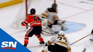Kailer Yamamoto Scores Top Shelf Over Jaroslav Halak For Memorable First NHL Goal