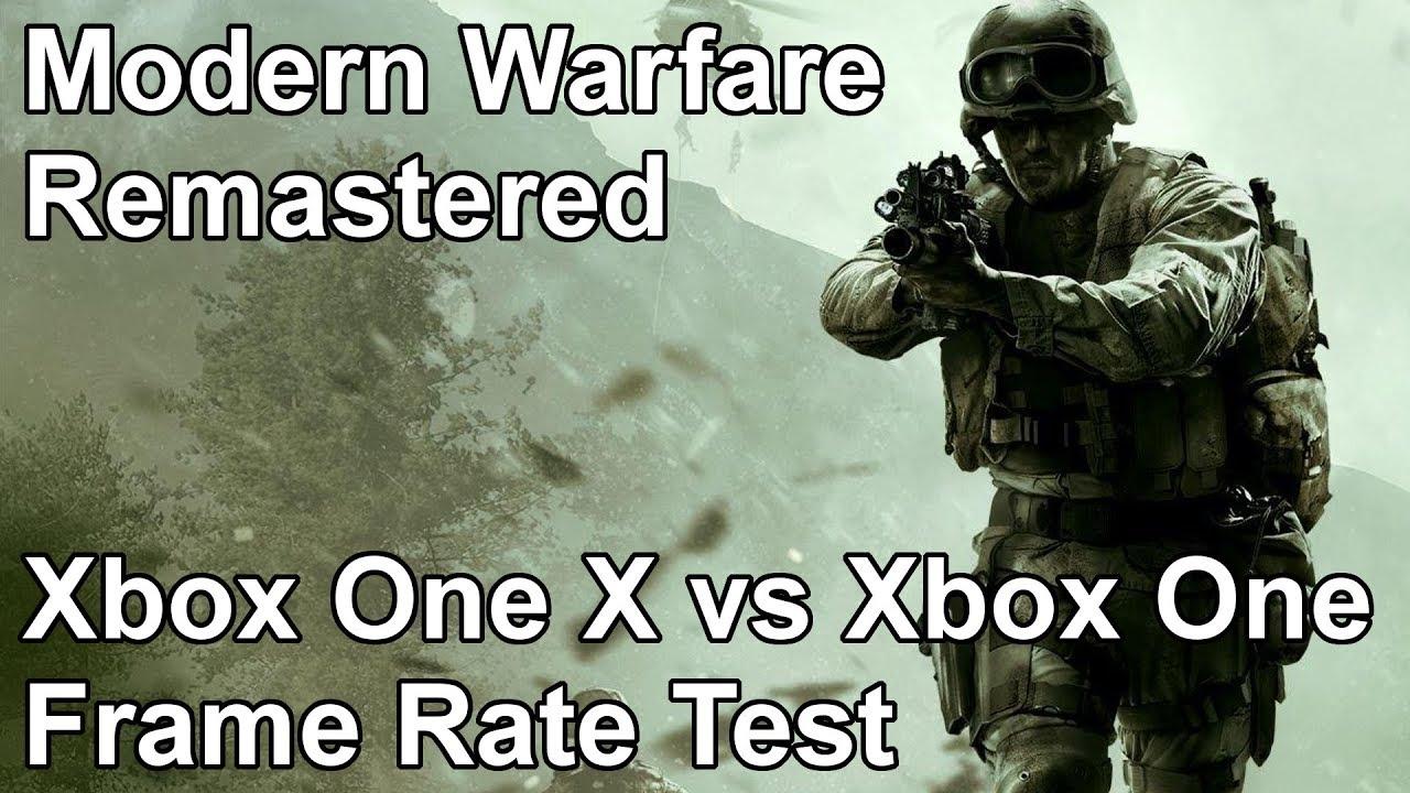 Call of Duty Modern Warfare Remastered Xbox One vs Xbox One X Frame Rate  Test