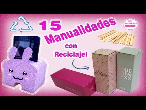 15 Manualidades con reciclaje
