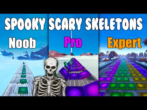 Spooky Scary Skeletons Noob vs Pro vs Expert (Fortnite Music Blocks) - Code in Description