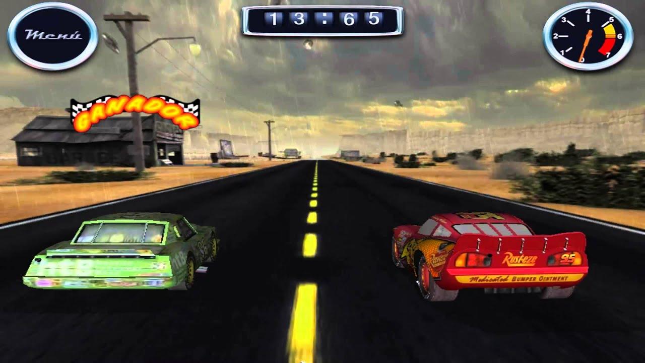 juego de la pelicula cars rayo mcqueen vs chik hicks cars