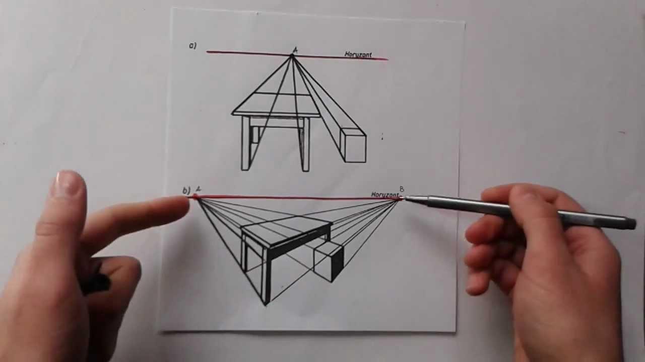 Rysunek Odręczny Architektoniczny Odcinek 1 Horyzont I