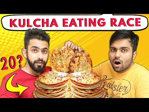 STUFFING LOADED Amritsari Kulchas Eating Challenge | Indian Food Challenge | Challenge Accepted #31