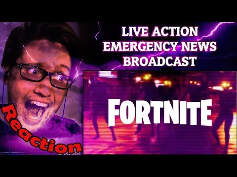 FORTNITE - LIVE ACTION EMERGENCY NEWS BROADCAST REACTION!