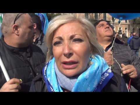 Palermo, protesta delle guardie giurate di tutta la Sicilia