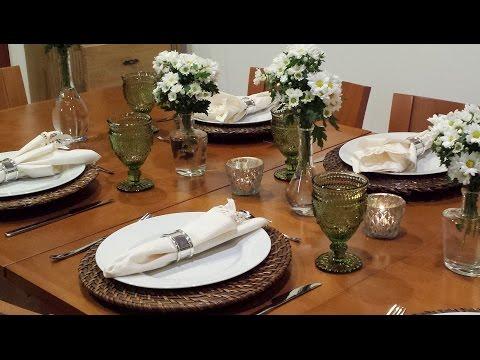 Recebendo amigos para jantar - Preparo + Arrumação + Comida + Mesa posta - VLOG