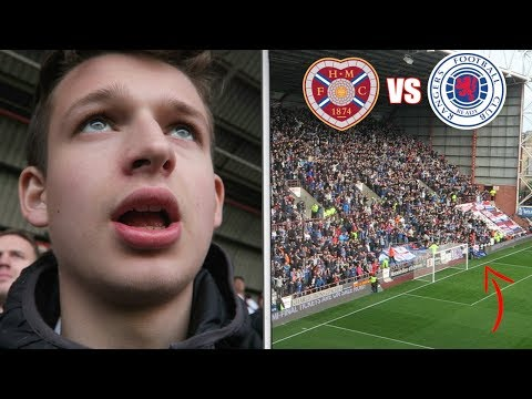 BOTTLES THROWN AT REFEREE And RANGERS LIMBS!   Hearts Vs Rangers