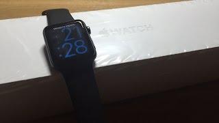 Розпакування Apple годинник / розпакування Apple годинник спорту 42 мм чорний
