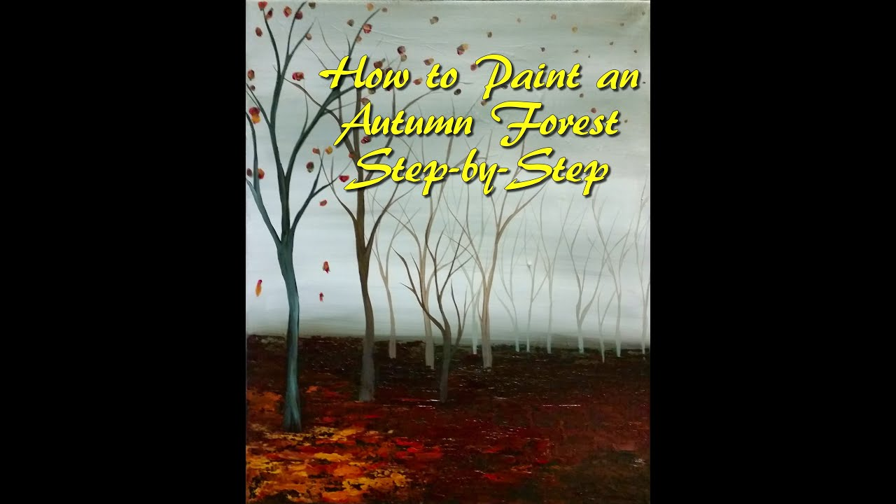 Beginner: how to draw an autumn forest