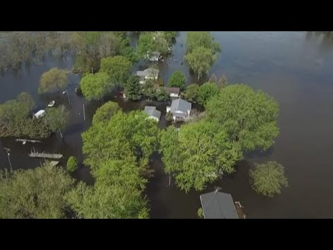 Floods Surround Homes Along Grand River, Keep Boaters Out Of The Water