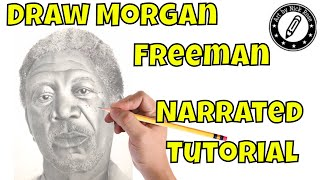 |Drawing dark skin|Drawing Morgan Freeman|Drawing hyper realism|Drawing African People|
