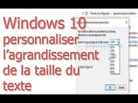 Windows10 Personnaliser L Agrandissement De La Taille Du Texte
