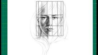 """Nuevo CURSO de dibujo a lápiz Cap. 4 """"Líneas de coincidencia en el rostro y proporción"""" """""""
