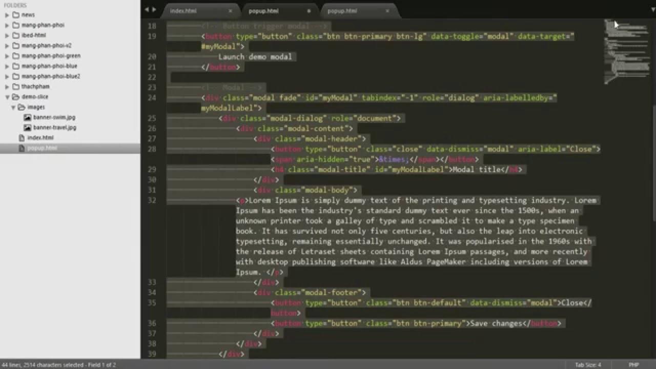 Hướng dẫn làm popup trong thiết kế web
