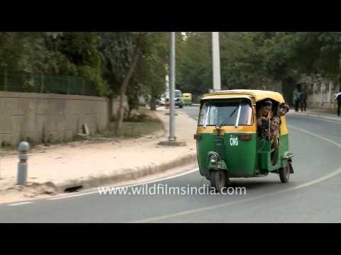Auto-rickshaw ride is fun, Delhi
