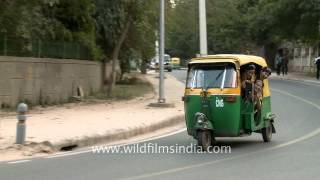 Auto-rickshaw ride is fun, Delhi