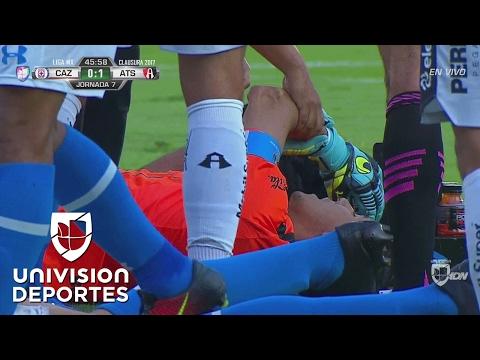 Impactactante Lesion De Oscar Ustari Tras Un Choque Con Gabriel Penalba