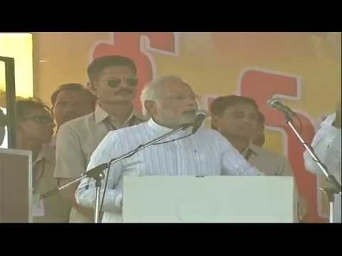 Shri Narendra Modi addressing a Public Meeting in Guntur (An
