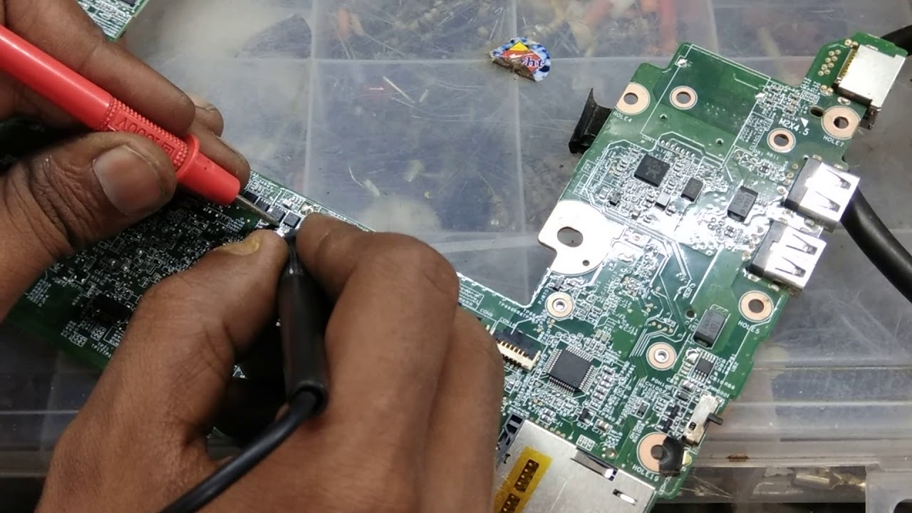 Hp Mini Laptop Repair No Power Short Cercuit Model 110 Wiring Diagram Testing The Charging Circuit On A