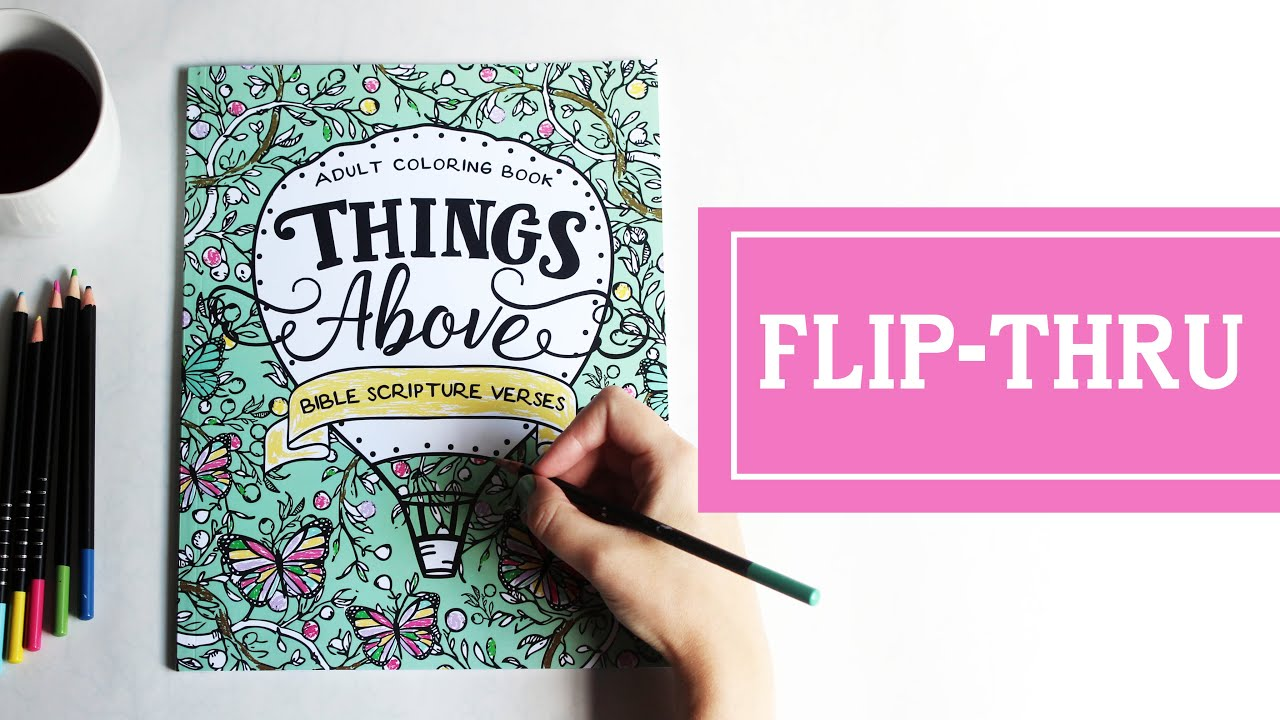 Things Above: Adult Coloring Book with Bible Scripture Verses - Book ...