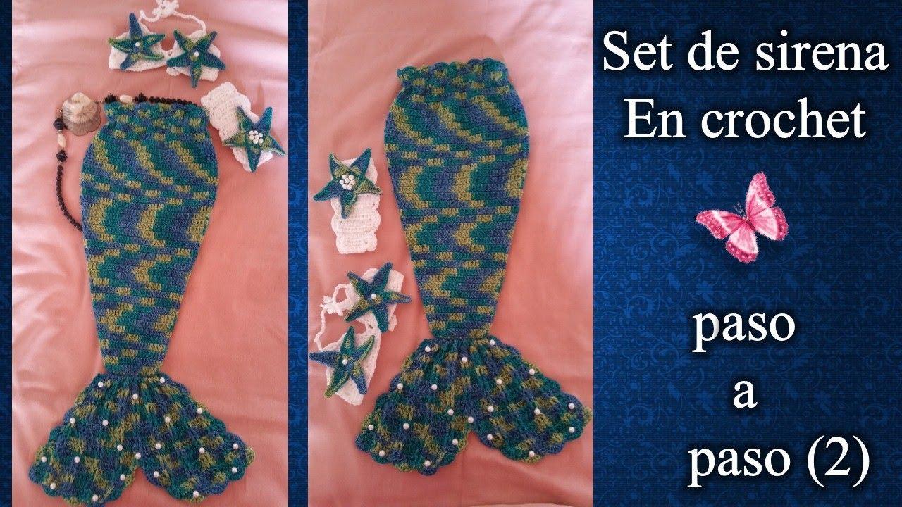 COLA DE SIRENA en crochet PASO A PASO 2 de 4 - YouTube