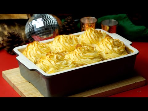 Slow Cooked Beef Pie with Cheesy Mashed Potatoes Recipe