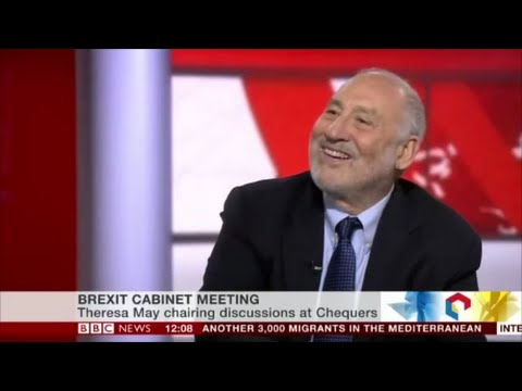 Joseph Stiglitz says the Euro zone  is in a depression, Brexit is great