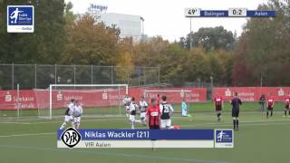 A-Junioren - TSG Balingen vs. VfR Aalen 0:2 - Niklas Wackler