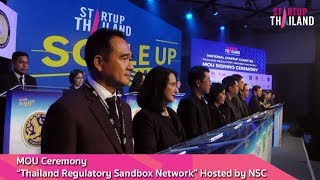 """MOU Ceremony """"Thailand Regulatory Sandbox Network"""" Hosted by NSC"""
