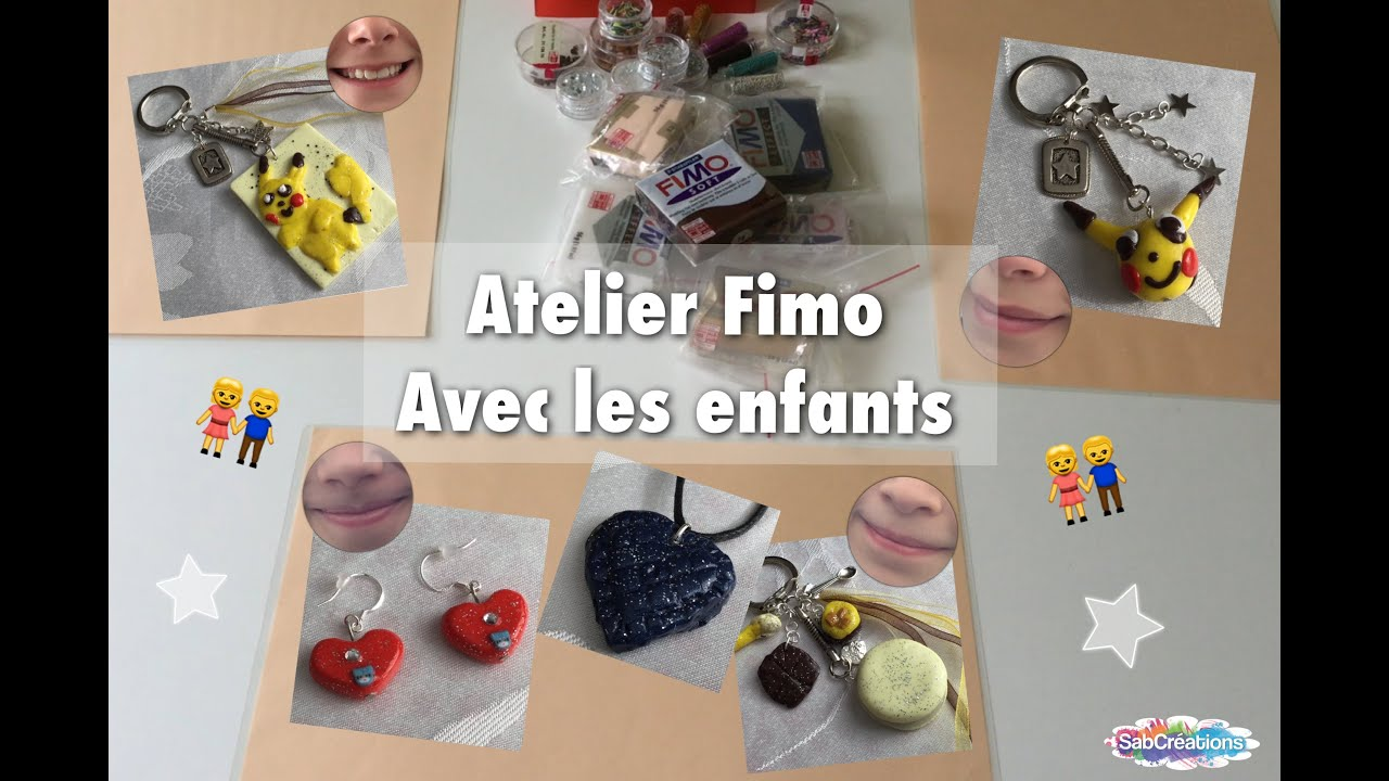diy atelier fimo avec les enfants idees creations sabcreations youtube. Black Bedroom Furniture Sets. Home Design Ideas