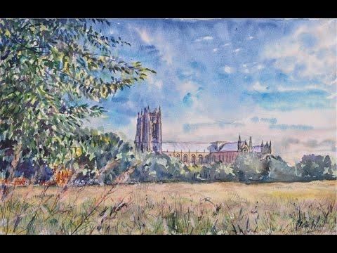 Beverley Minster Exterior - Watercolour