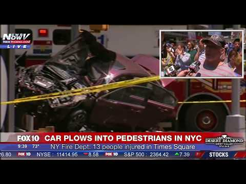 BREAKING: Car Crashes Into People in New York City - Times Square - 1 Dead, 22 Injured