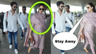 Oops ! Mira Rajput insults and fights with husband Shahid Kapoor at the airport today !