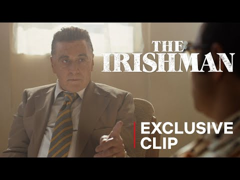 The Irishman - Al Pacino faces off with Stephen Graham - Clip