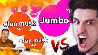 Agar.io - Jumbo VS Elon Musk !