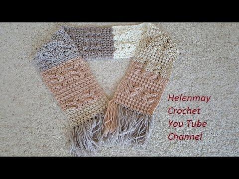 Helenmay Crochet Heavenly Blessing Scarf DIY Tutorial