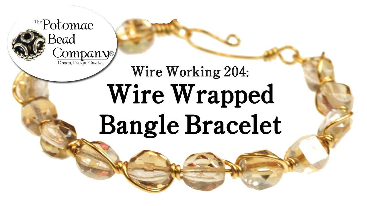 Make a Wire Wrapped Bangle Bracelet - YouTube